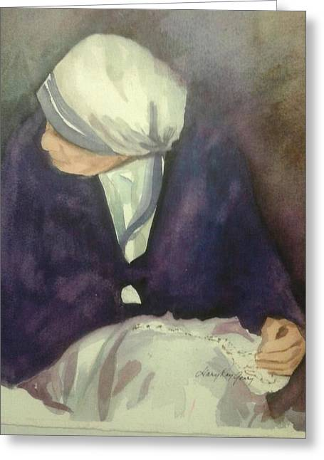 Mother Theresa Greeting Cards - Mother Greeting Card by Mary Kay Geary