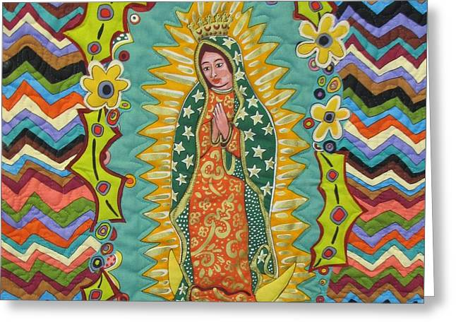 Praying Hands Greeting Cards - Mother Mary Praying For The Children Greeting Card by Donna Wilson