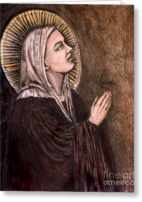 Bondone Greeting Cards - Mother Mary  Greeting Card by Sandra Schroeder