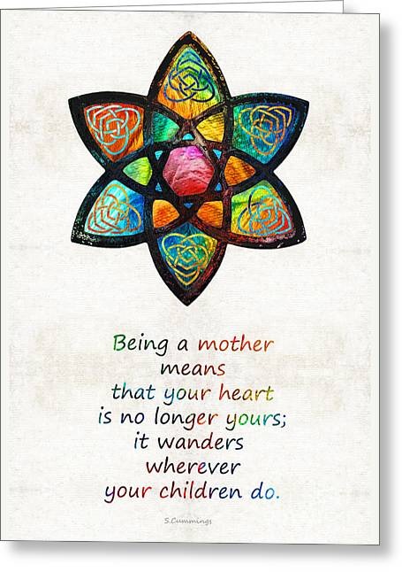 Mother Mom Art - Wandering Heart - By Sharon Cummings Greeting Card by Sharon Cummings