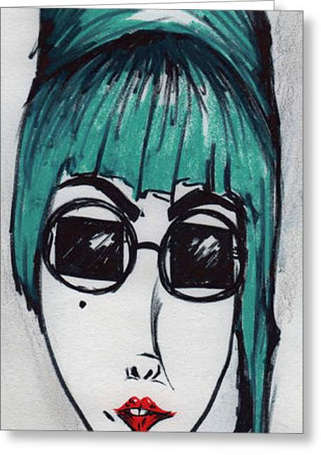 Pop Singer Greeting Cards - Mother Monster Greeting Card by Leia Sopicki