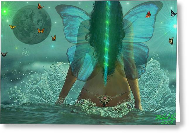 Angel With Star Greeting Cards - Mother Nature Greeting Card by Michael Rucker