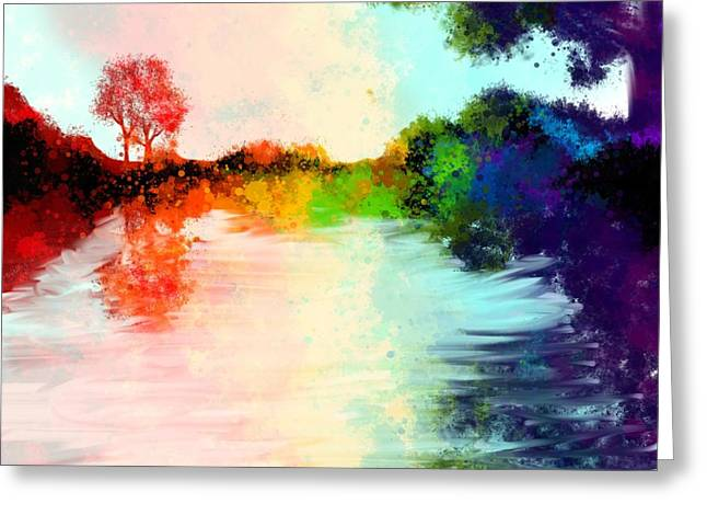 Arc-en-ciel Greeting Cards - Mother Natures Colors Greeting Card by Marie-Anne Vautour