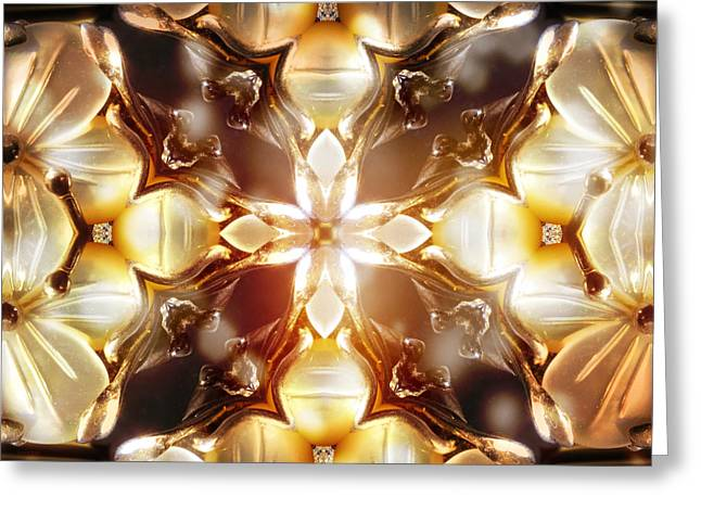Rowe Digital Art Greeting Cards - Mother of Pearl Greeting Card by Shawna  Rowe