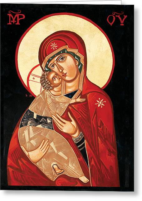 Icon Byzantine Greeting Cards - Mother of Tenderness Greeting Card by Joseph Malham