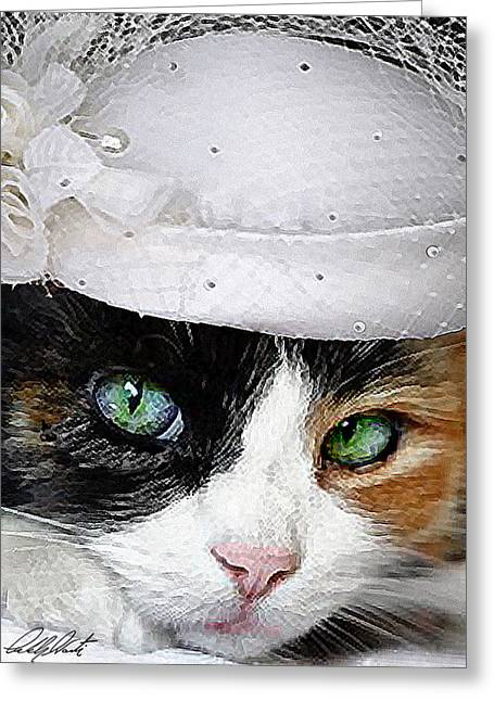 Hat Art Cat In Hat Art Greeting Cards - Mother Of The Bride Greeting Card by Michele  Avanti