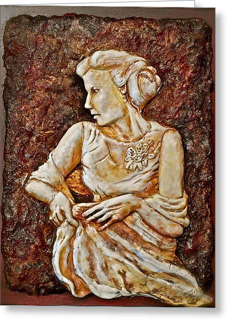 Female Reliefs Greeting Cards - Mother of the Bride Greeting Card by Phyllis Dunn
