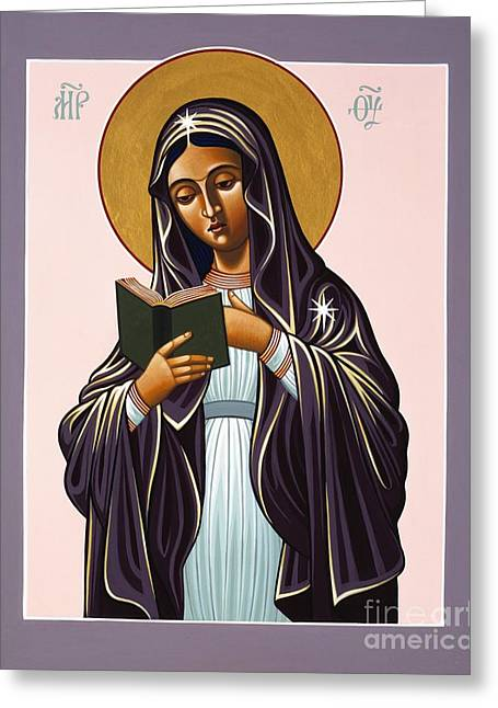 Harts Paintings Greeting Cards - Mother of the Incarnate Word Greeting Card by William Hart McNichols