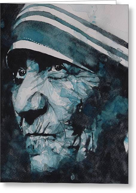 Google Greeting Cards - Mother Teresa Greeting Card by Paul Lovering