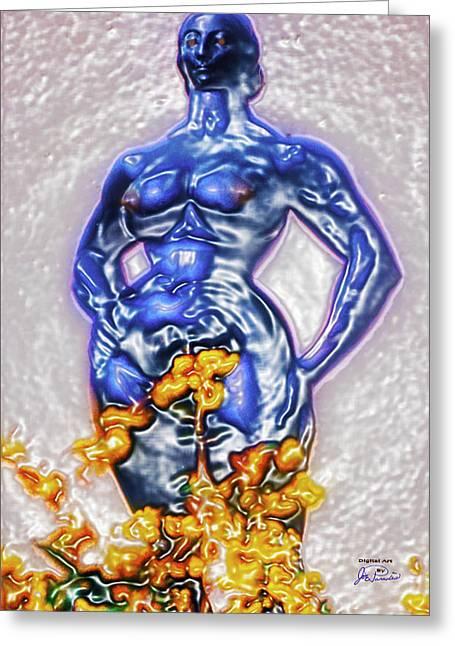 Liberation Digital Art Greeting Cards - Motherhood Breaching The Glass Enclosure Greeting Card by Joe Paradis