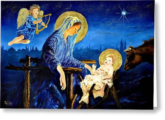Night Angel Greeting Cards - Motherhood Greeting Card by Henryk Gorecki