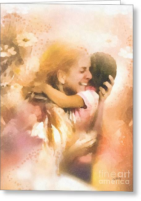 Missing Child Greeting Cards - Mothers Arms Greeting Card by Mo T