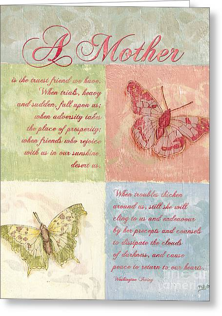 Sentiment Greeting Cards - Mothers Day Butterfly card Greeting Card by Debbie DeWitt