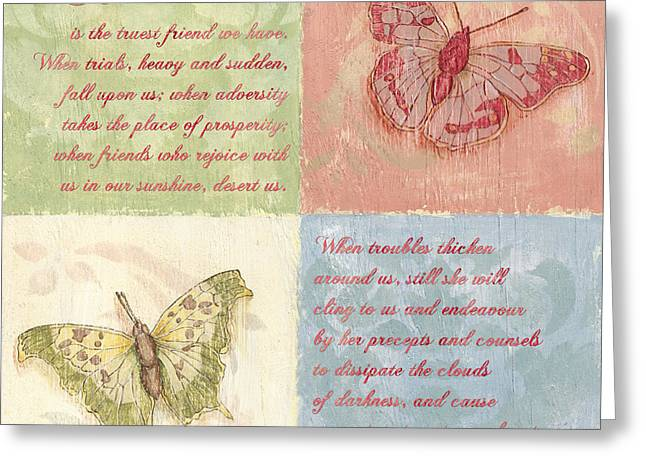 Mom Paintings Greeting Cards - Mothers Day Butterfly Greeting Card by Debbie DeWitt