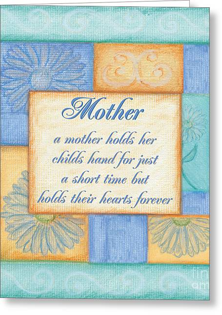 Aqua Blue Greeting Cards - Mothers Day Spa Greeting Card by Debbie DeWitt