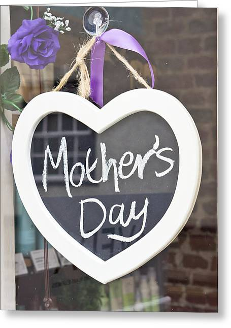 Words Background Greeting Cards - Mothers day Greeting Card by Tom Gowanlock