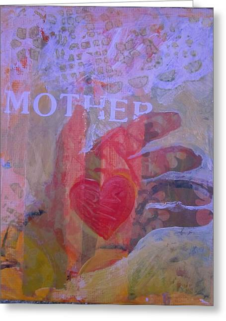 Mother's Heart Greeting Card by Tilly Strauss