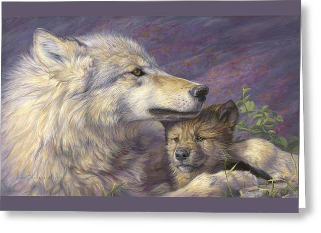 Animals Love Greeting Cards - Mothers Love Greeting Card by Lucie Bilodeau