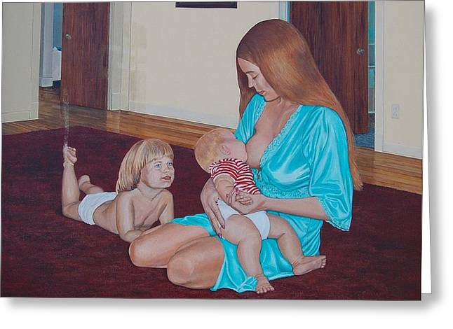 Annajo Vahle Greeting Cards - Mothers Milk Greeting Card by AnnaJo Vahle
