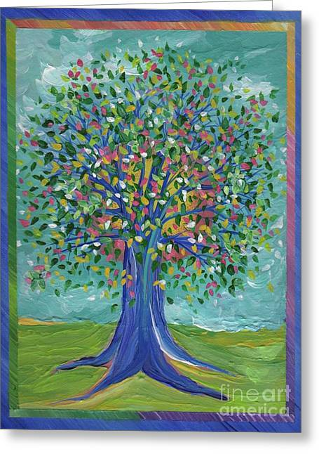 Caring Mother Greeting Cards - Mothers Tree by jrr Greeting Card by First Star Art