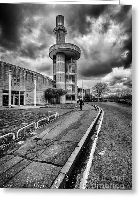 Mono Landscape Greeting Cards - Motherwell Heritage Centre Greeting Card by John Farnan
