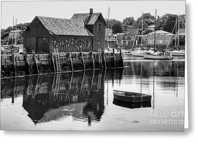 Massachusetts Artist Greeting Cards - Motif 1 - bw Greeting Card by Nikolyn McDonald