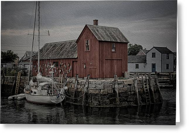 Lobster Shack Greeting Cards - Motif 1 - Painterly Greeting Card by Stephen Stookey