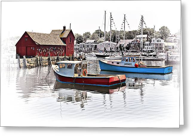 Docked Sailboats Greeting Cards - Motif #1 Greeting Card by Marcia Colelli