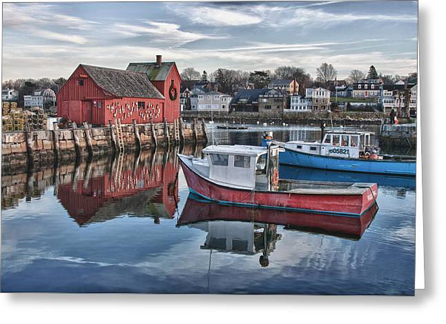 Motif 1 Sky Reflections Greeting Card by Jeff Folger