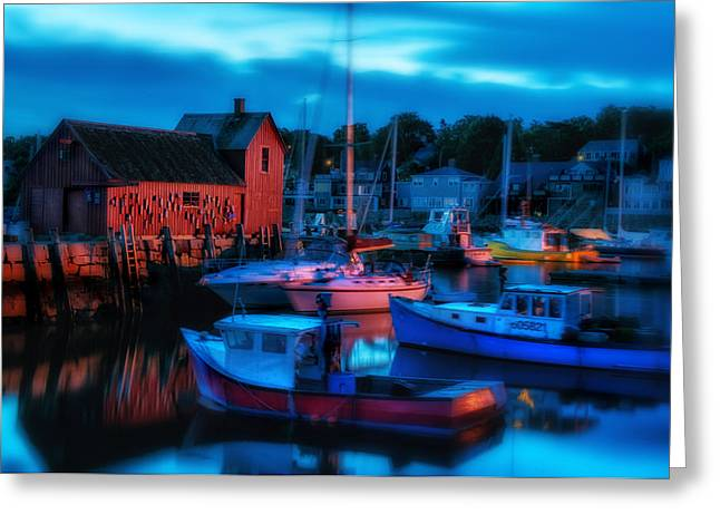 Small Fishing Village Greeting Cards - Motif No 1 Rockport Massachusetts Greeting Card by Thomas Schoeller
