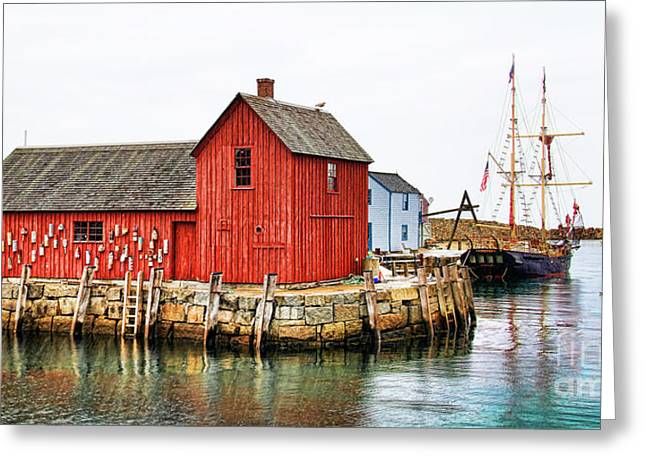 Best Sellers -  - Pirate Ships Greeting Cards - Motif Number 1 Rockport MA Greeting Card by Jack Schultz