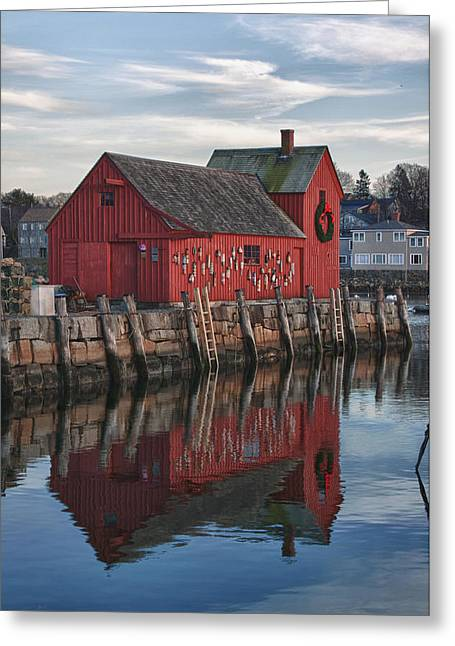 Lobster Shack Greeting Cards - Motifs long reflection Greeting Card by Jeff Folger