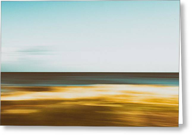 Sand Pattern Greeting Cards - Motion 1 Greeting Card by Stylianos Kleanthous