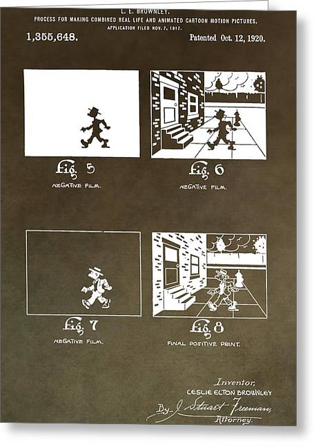 Disney Artist Greeting Cards - Motion Picture Patent Greeting Card by Dan Sproul
