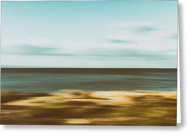 Sand Pattern Greeting Cards - Motion2 Greeting Card by Stylianos Kleanthous