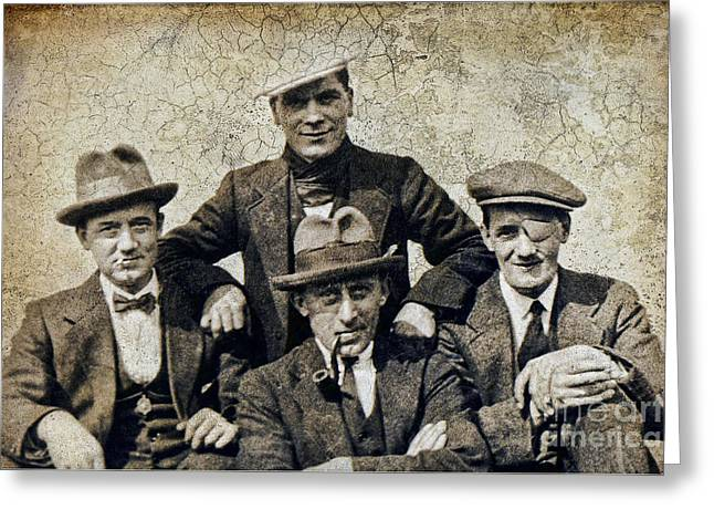 Character Portraits Greeting Cards - Motley crew Greeting Card by Gillian Singleton