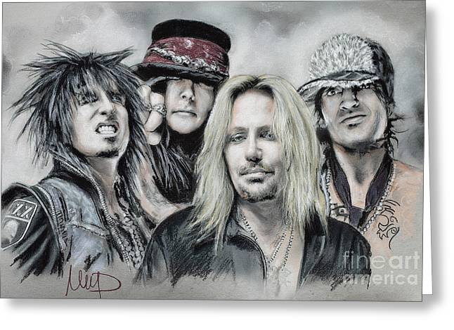 Vince Greeting Cards - Motley Crue Greeting Card by Melanie D