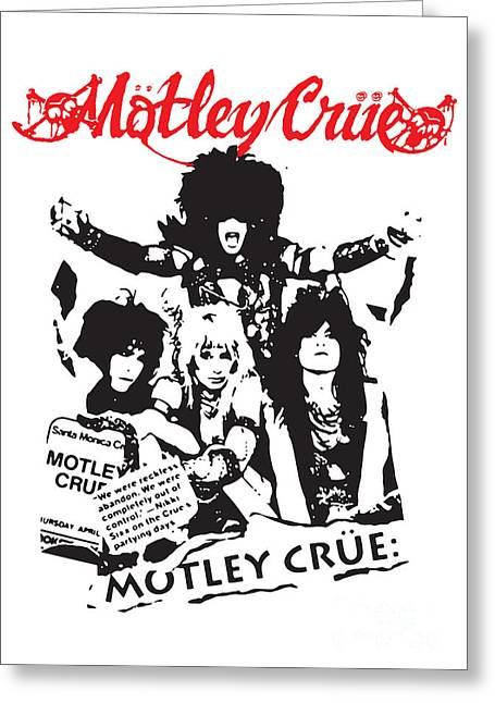 Band Digital Art Greeting Cards - Motley Crue No.01 Greeting Card by Caio Caldas