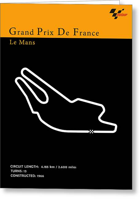 Yamaha Greeting Cards - Moto GP France Greeting Card by Mark Rogan