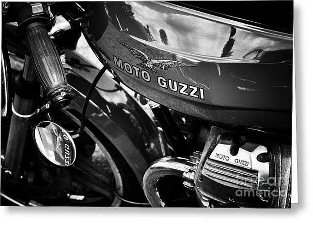 Cylinder Greeting Cards - Moto Guzzi Le Mans  Greeting Card by Tim Gainey