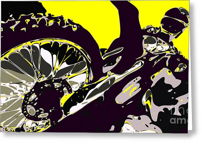 Wild Racers Greeting Cards - Motocross Greeting Card by Chris Butler