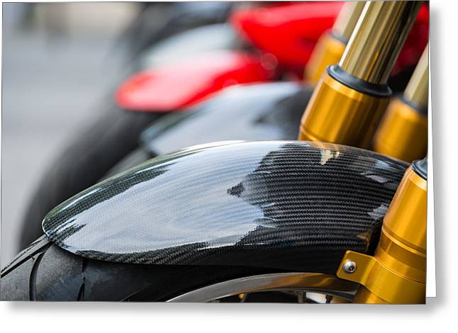 Mudguard Greeting Cards - Motorbikes Greeting Card by Dutourdumonde Photography