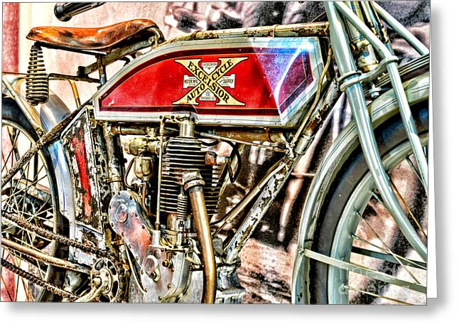 Manufacturing Greeting Cards - Motorcycle - 1914 Excelsior Auto Cycle Greeting Card by Paul Ward