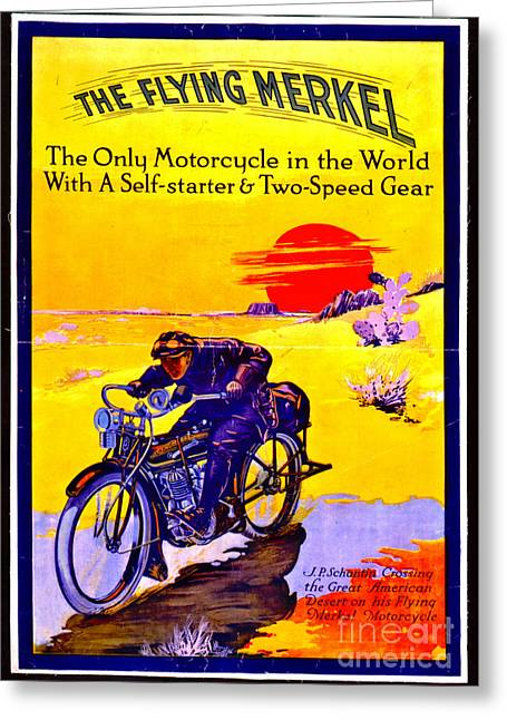 Motorcycle Ad 1913 Greeting Card by Padre Art