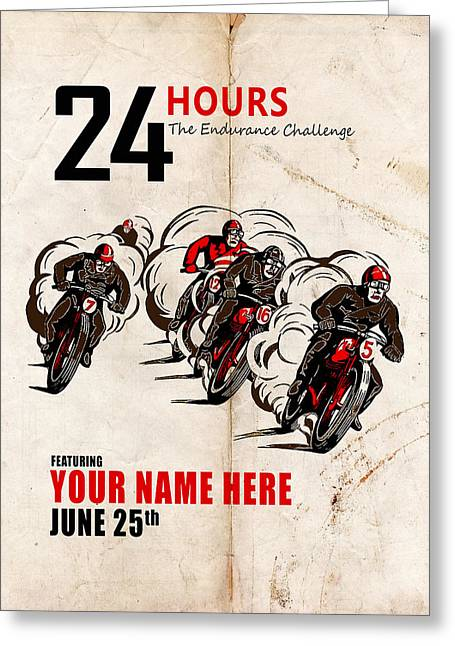 Customized Greeting Cards - Motorcycle Customized Poster 5 Greeting Card by Mark Rogan