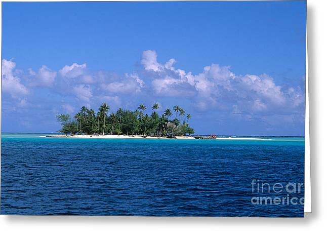 Tropical Oceans Greeting Cards - Motu Paahi Greeting Card by Bill Bachmann
