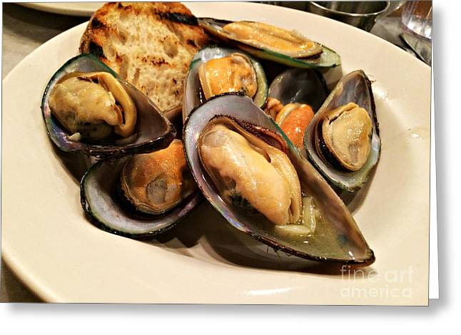 Moules Greeting Cards - Moules Marinieres Greeting Card by Addie Hocynec