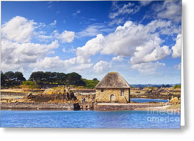 Mills Greeting Cards - Moulin de Berlot Tide Mill Ile de Brehat Brittany France Greeting Card by Colin and Linda McKie