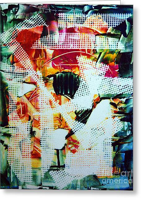 Monotype Greeting Cards - Moulin Rouge Greeting Card by Alexandra Jordankova