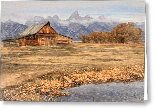 Foilage Greeting Cards - Moulton Barn 2- Grand Tetons Greeting Card by Donna Kennedy
